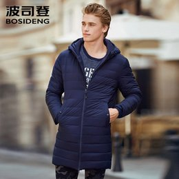 Wholesale long winter parka for men resale online – BOSIDENG duck down jacket long down coat for men winter sports outwear light parka high quality B70132007