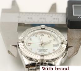 Silver Luxury Watches Diamond Women Australia - new luxury watches women big diamonds quartz movement silver Stainless steel sapphire original strap ladies watches 35MM