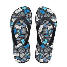 $enCountryForm.capitalKeyWord Australia - Customized Personalized Ladies Flip Flops Casual Study Time Book Printed Casual Home Women Slippers Flipflops Summer Girls Shoe