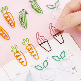 cute paper clips Australia - Cute Cartoon Carrot Shape Paper Clip Bookmark Simple Metal Teenage Heart Beat Pin Student Note Clip