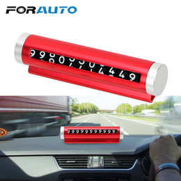 Discount card glue - FORAUTO Car Temporary Parking Card Rotate Phone Number Plate Universal Roller Type Rotating Stop Sign Mobile Phone Numbe