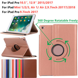 ipad mini smart case green NZ - Classical 360 Degree Rotating PU Leather Smart Cover Case for Apple iPad Mini 1 2 3 Air 1 Air 2 iPad Pro 9.7 2016 Pro 10.5 Pro 12.9 Inch
