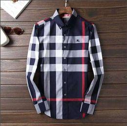 Wholesale plus size flannel shirts for sale – plus size NIGRITY Spring Men s Fashion Classic Comfortable Casual Long Sleeve Business Shirt Man Formal Shirt Plus Size M Size