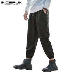 $enCountryForm.capitalKeyWord NZ - Fashion Male Pants Men Harem Pants Baggy Casual Trousers Wide Legs Joggers Drawstring Loose Pantalon Hombre Hiphop Sweatpants