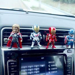 $enCountryForm.capitalKeyWord Australia - Car Air Freshener The Avengers Automobiles Vents Perfume Spiderman Aromatherapy Scent Diffuser Action Figures Auto Fragrances