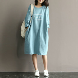 t shirt dress winter Australia - Maternity T-shirt Dress 100% Cotton Dress Clothes For Pregnant Women Dress Tops Long Sleeve Maternity dresses Pregnancy Clothes SH190917