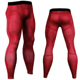 moisture wicking clothing for men NZ - Wholesale-Mens Gym Clothing Sports Tights PRO Elasticc Basketball Long Leggings Pants Men Compression Camouflage Pants For Men Size S-XL