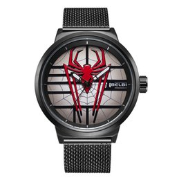 China BELBI Brand Fashion 3D Spider Men's Wrist Watches Stainless Steel Band Quartz Business Watch Waterproof Male Clock New Fashion Wristwatches cheap stainless steel spiders suppliers