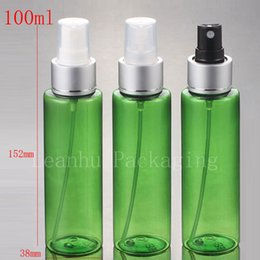 plastic spraying Australia - 100ml X 30 plastic liquid Bottle with aluminum spray pump , PET Cosmetic Packaging bottle atomization ,3.4oz sprayer container