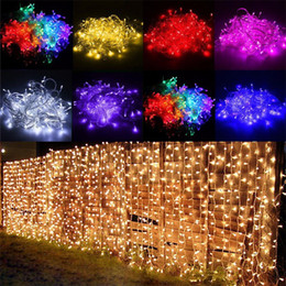 China Curtain lights christmas lights 10*8m 10*5m 10*3m 8*4m 6*3m 3*3m led lights Christmas ornament lamp Flash Colored Fairy wedding Decoration cheap ornament lamps suppliers