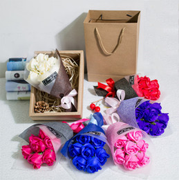 Teacher Gifts For Christmas Australia - 10Bouquets Scented Handmade Soap Rose Flowers with Box for Party Christmas Lover Teachers day or Company Wedding Special day Favors Gifts