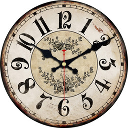 Discount violin clock RIHE Violin Arabic Numerals Silent Wooden Cardboard Wall Clock For Home Decor Office, Vintage Style,Non-Ticking Sweep Wa