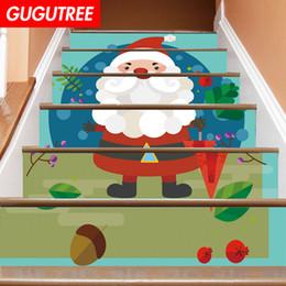 $enCountryForm.capitalKeyWord NZ - Decorate Home 3D Christmas cartoon art wall Stair sticker decoration Decals mural painting Removable Decor Wallpaper G-679