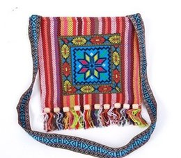 $enCountryForm.capitalKeyWord Australia - Hmong Vintage Ethnic Shoulder Bag Embroidery Boho Hippie Tassel Tote Messenger Chinese Ethnic Style Colorful Bag
