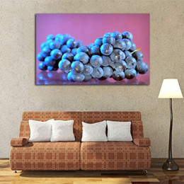 $enCountryForm.capitalKeyWord Australia - Fruit Print Poster Purple Grape Painting Room Decor Not Framed Canvas Art Modern Picture Printing Home Decoration