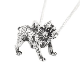 gift male friend UK - Boho Antique English Bulldog Pendant Necklace Accessories Chain Friends Male Necklaces For Women Men Collier Femme Pet Lover Gift