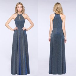 grey sexy bridesmaid dresses 2019 - Dark Grey Sparkly Sequins Formal Evening Dresses 2019 New Arrival Real Photos Floor Length Cheap Long Prom Gowns Celebri