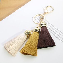 Cellphone Keys Australia - 9 Styles Creative Tassel Pendants Decorations with Golden End Caps for Key Chain Cellphone DIY Keyring Jewelry Accessories Free DHL B778Q A