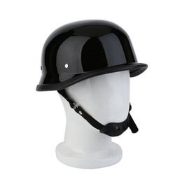 German Half Helmets Australia - German Style M L XL Vintage Motorcycle Cruiser Helmet Half Face German Helmet Motorcycle Bright Black Car-styling