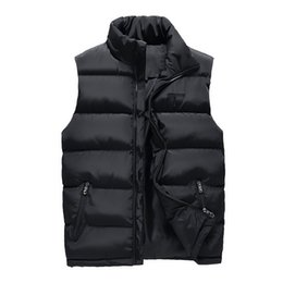 $enCountryForm.capitalKeyWord UK - Black Men Vest 2018 Winter Male Waistcoat Slim Fit Sleeveless Jacket Casual Vest Man Plus Size L-4XL Drop Shipping