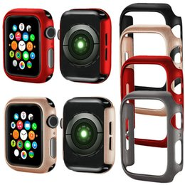 Wholesale For Apple Watch mm Bumper Case Snap On Cover PC Rugged Protective for Apple Watch Series