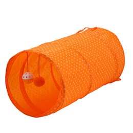$enCountryForm.capitalKeyWord Australia - 2019 hot sale cat toy foldable tent wave dot polyester tunnel roll dragon three color optional pet supplies