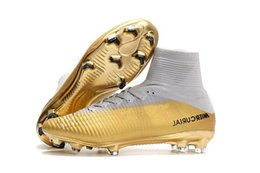 $enCountryForm.capitalKeyWord Australia - White Children Gold Cr7 Soccer Cleats Mercurial Superfly Kids Soccer Shoes High Ankle Cristiano Ronaldo Mens Womens Football Boots