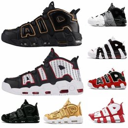 buy popular 14015 0f2af New Arrival Air more Uptempo QS Olympic Black GOLD Pinstripe Mens  Basketball Shoes Airs 3M Scottie Pippen Sports Sneakers