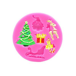 Discount christmas tree silicone mould - Baking Moulds Christmas Silicone Cake Moulds Candy Molds Silicone Santa Claus Christmas Tree Deer Shaped Baking Kitchen
