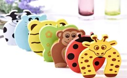 $enCountryForm.capitalKeyWord Australia - New Care Child kids Baby Animal Cartoon Jammers Stop Door stopper holder lock Safety Guard Finger 7 styles