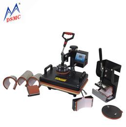 T Shirt Press Machines Australia - Top Quality T-shirt Mug Plate Cap Combo Heat Press Machine  T-shirt Printing Machine Sublimation Textile Printer