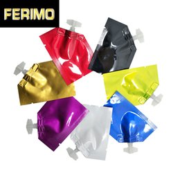 mini heat seal bags Australia - 100Pcs Mini Colorful 5x7cm Open Top Heat Seal Pure Aluminum Foil Package Bag with Cap Liquid Cosmetic Travel Mylar Packing Pouch