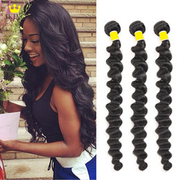 "Virgin Human Hair 28 Australia - Brazilian Virgin Hair 3 Bundles Loose Body Deep Wave Human Hair 8""-28"" Unprocessed Peruvian Malaysian Indian Human Hair Weaves 100g pc"