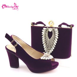 $enCountryForm.capitalKeyWord Australia - 2019 New Purple Color Wedding Clutch Bag Match Nigerian Women Shoes and Bag Matching Set African Shoe and Bag Match for Party