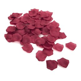 White Rose Petals Wedding Australia - 10Pack(1000Pcs) Real Touch Simulation Rose Petals Multi Usage Silk Fabric Petals For Wedding Home Room Decor Wine Red Colorful