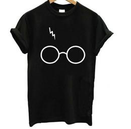 Discount popular t shirt designs - 2019 New fashion popular women's Short-sleeved T-shirt with funny print design for women's lightning glasses i