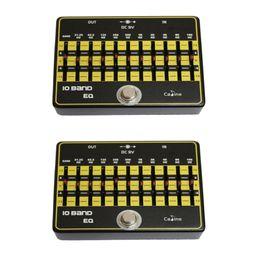 Eq Pedal NZ - NAOMI 2PCS Caline CP-24 10 Band EQ Guitar Effect Pedal Input DC 9V Equalizer Guitar Accessories