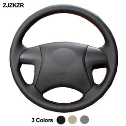 ToyoTa camry sTeering wheel online shopping - Car Auto Steering Wheel Cover For Toyota Highlander Camry Braid Volant