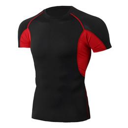 $enCountryForm.capitalKeyWord NZ - Wholesale 2019 New Fashion T-shirt Men Short Sleeve Compression tight Tshirts Shirt Summer Clothes Free transportation