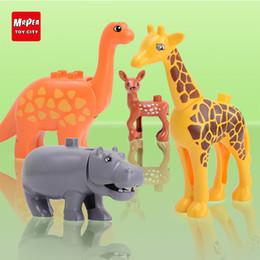 $enCountryForm.capitalKeyWord Australia - Zoo Model Building Blocks Original Big Particles Bricks Accessory Toys Compatible Duplo Animal Deer Panda Elephant Penguin Yy30