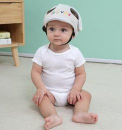 SpringS Security online shopping - Baby Letter safety Helmet Hat Head Protective Infant Study Step Bump Hat Anti Fall Wrestling Caps Children Security Cap AAA1632