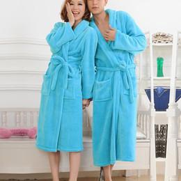 Army Thermal Shirt Australia - olyweya Thermal Extra Long Flannel Bathrobe Women Men Thick Warm Winter Kimono Bathrobe Solid Bridesmaid Robes Dressing