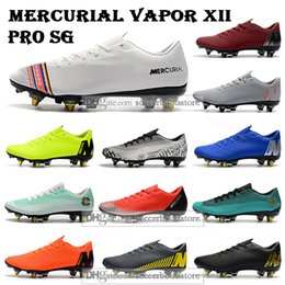 new cr7 football boots 2019 - New Mens Low Ankle Football Boots Mercurial Vapors XII Pro SG Soccer Shoes Superfly CR7 Neymar ACC SHHH Outdoor Soccer C