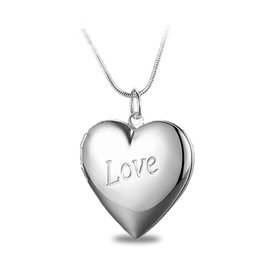 $enCountryForm.capitalKeyWord Australia - Factory Wholesale 925 Sterling Silver Plated LOVE Heart Pendant Locket Necklace Fashion Classic Romance Jewelry Valentine's Day Gift