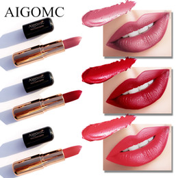 orange lipstick matte UK - Matte Lipstick 6 Colors Long Lasting Waterproof Lips Makeup Easy to Wear Nude Cosmetic Wholesale Beauty Nutritious Makeup