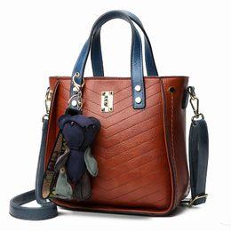 $enCountryForm.capitalKeyWord Australia - Luxury Handbags Women Bag Designer Big Ladies Hand Bag For Women Solid Shoulder Outlet Europe Leather Handbag Send a bear