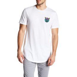 97cc420f795 Extra long men s T-shirt 2019 summer stylish tiger head print T shirt short  sleeve fashion youth large size men tee shirt