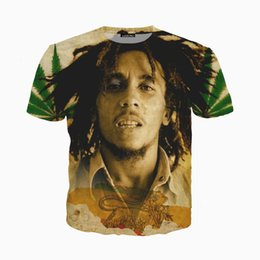 03e842edeb9c89 Newest Fashion Legend Singer Reggae Bob Marley T-shirt Women Men Summer  Unisex 3d Print Short Sleeve Crewneck Casual Tops Tees Q355