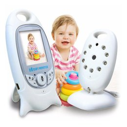 2019 Wireless Baby Monitor Way Talk Night Vision IR Nanny Babyfoon Baby Camera with Music Temperature 2.0 inch Color Screen VB601 on Sale