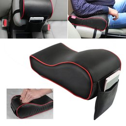 car central armrest 2019 - 1pc Car Armrest Box Mat Memory Cotton Leather Soft Central Armrest Console Box Pad Cover Cushion Seat Protective Pad Mat